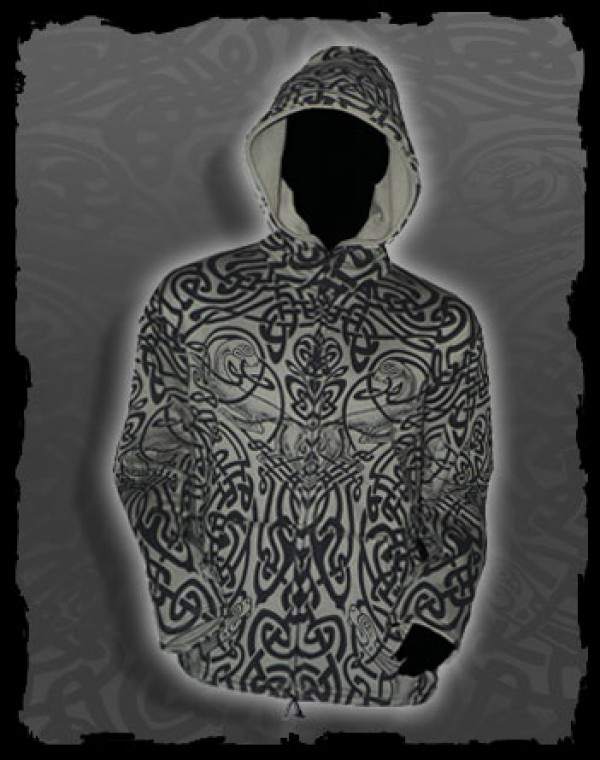 Jacket Men Fullprint Round Hood - Celtic Tribal print Nr.208