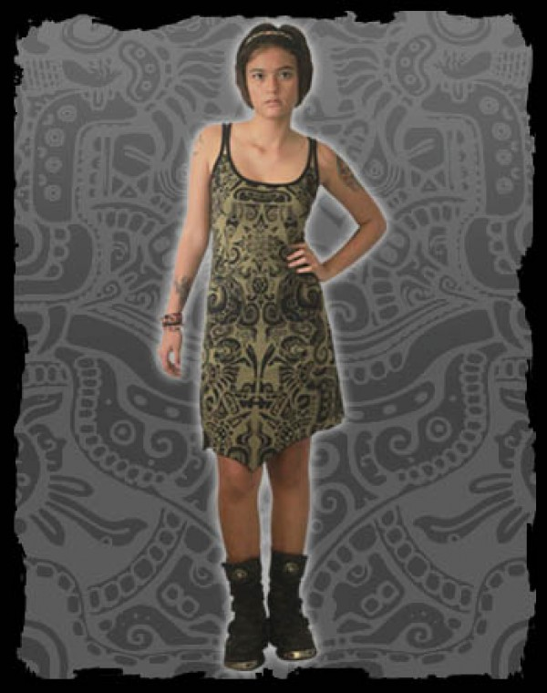 Electra Dress Fullprint - Aztek Tribal Print Nr.225