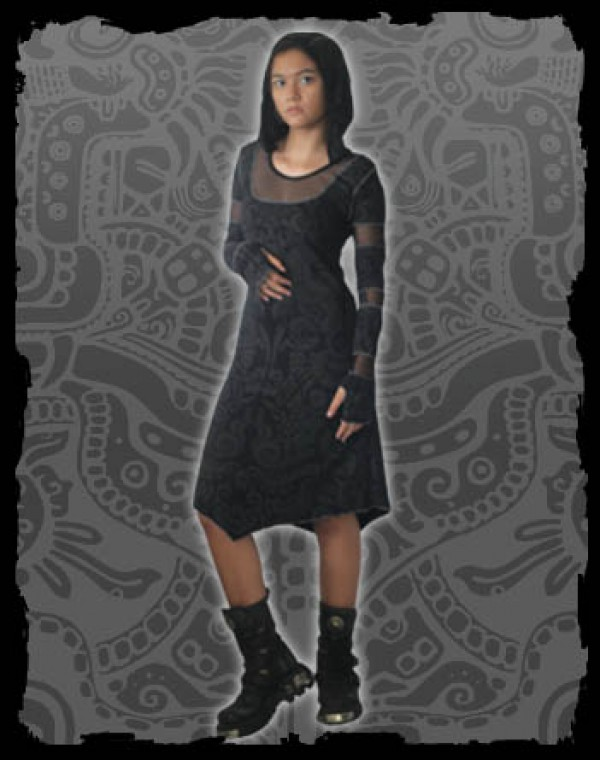 Inanna Dress Fullprint - Aztek Tribal print Nr. 225
