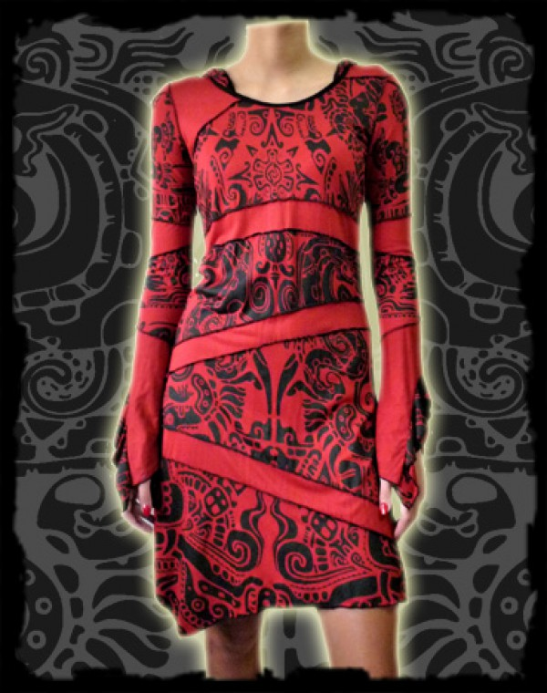 Taygeta Dress  - Aztek Tribal print Nr. 225