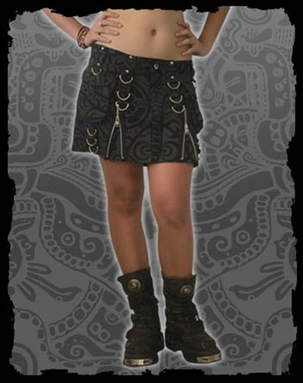 Xena Mini Skirt Fullprint - Polynesia Tribal Print Nr.149